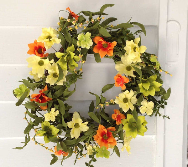 "Summer Sunrise Wreath 22"" - 9"