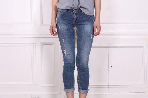 Sparkle Distressed Jeans