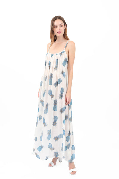 Cross Back Pineapple Maxi Cover Up