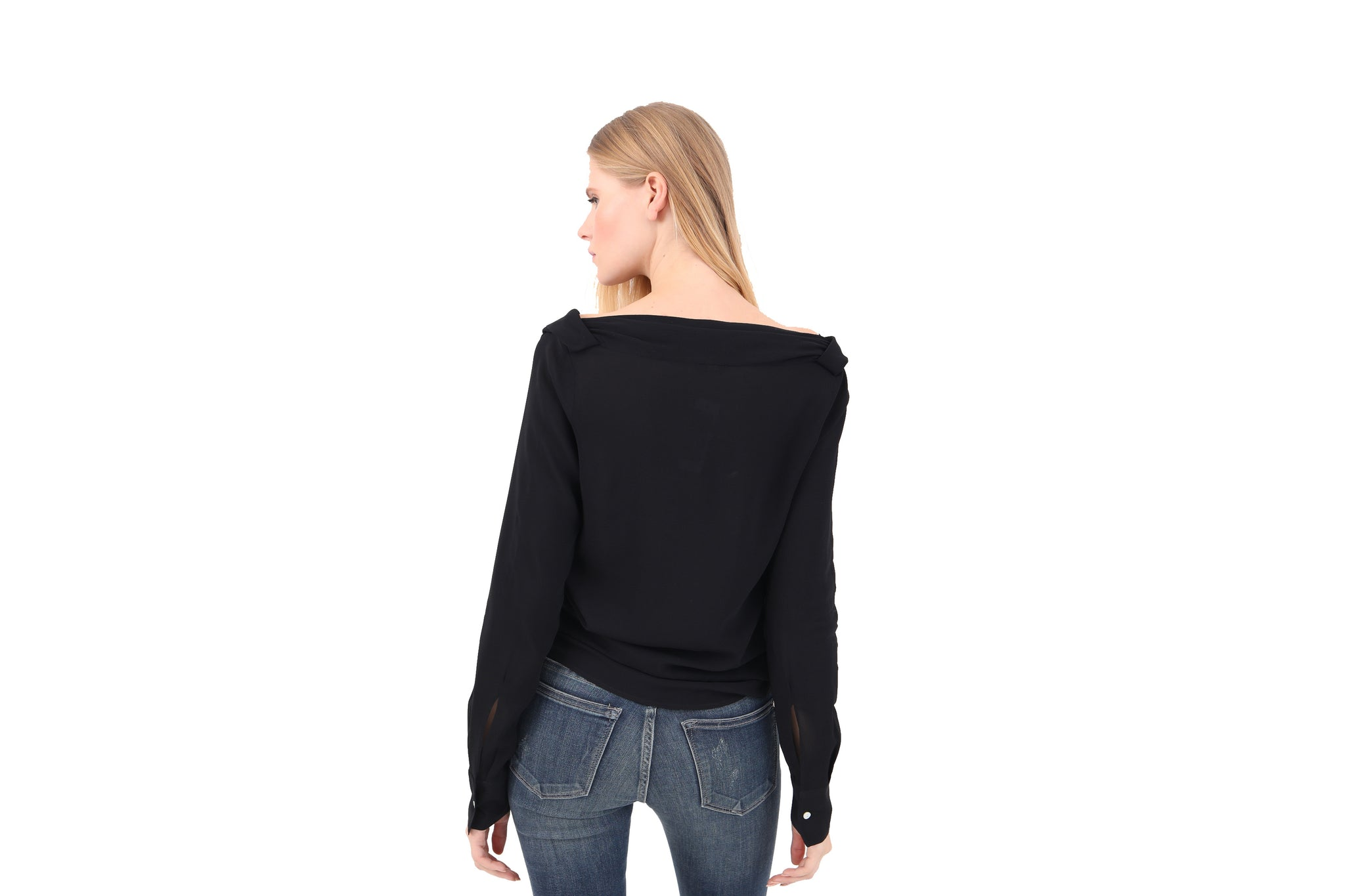 Twisted Neck Italian Blouse