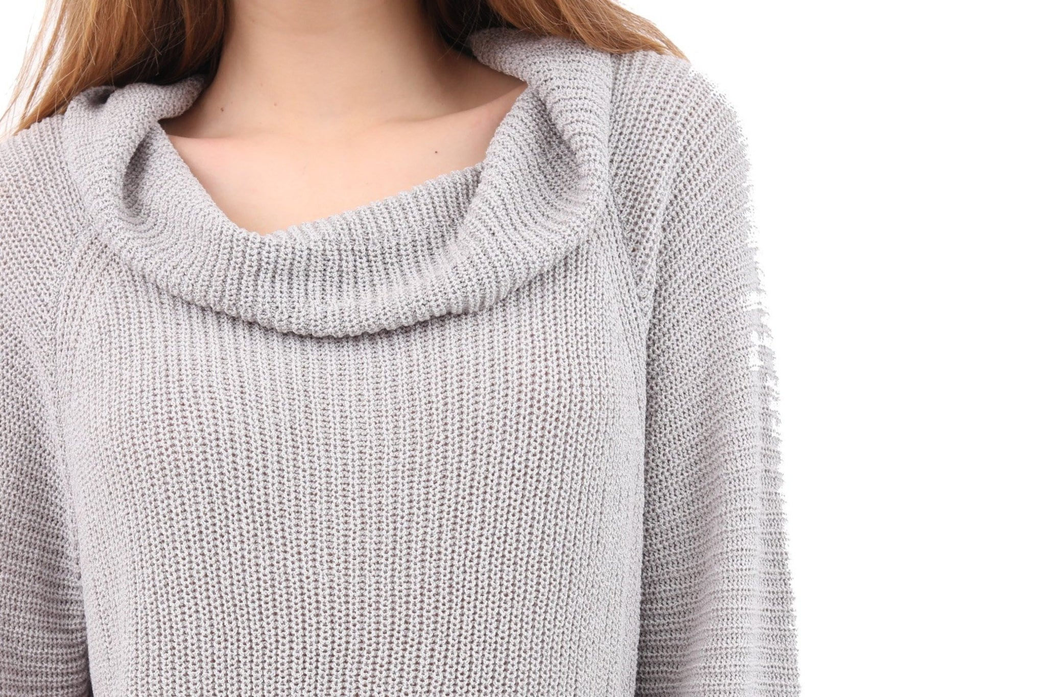 Wide Neck Knit Sweater