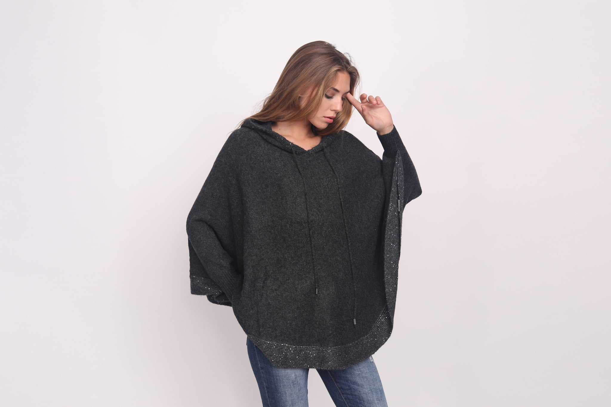 Sequin Swing Hoody Sweater
