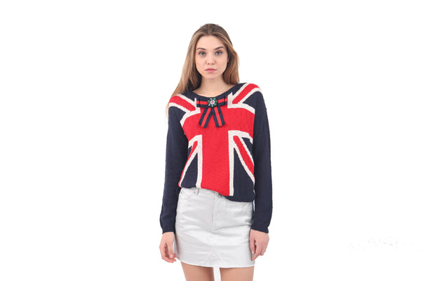 British Flag Knit Sweater