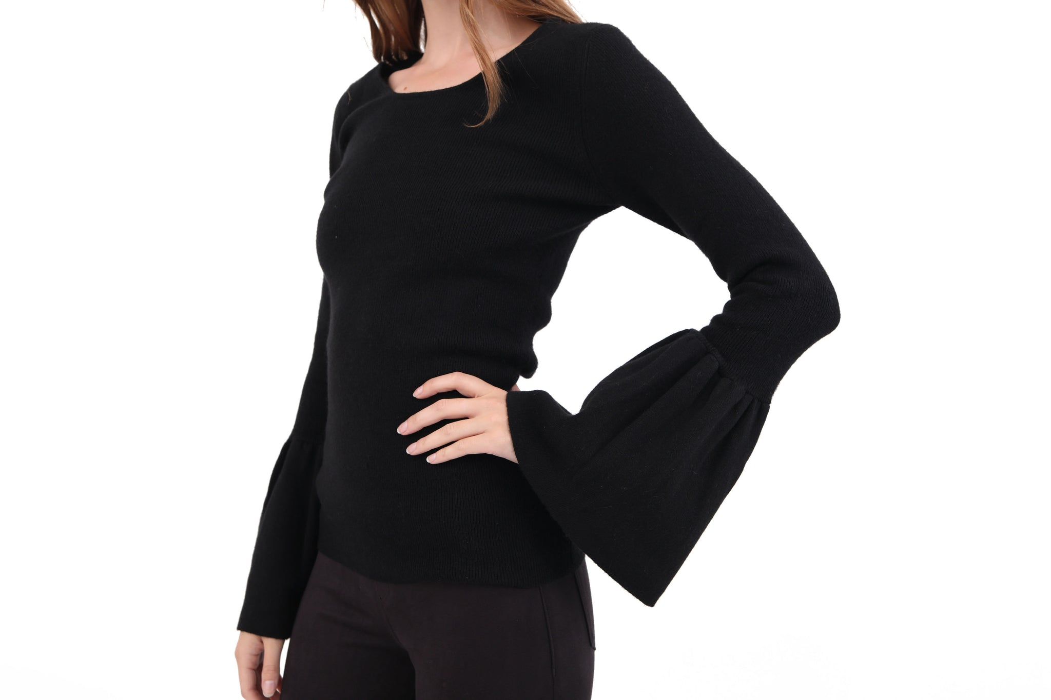 Helena Fitted Flare Sleeve Sweater