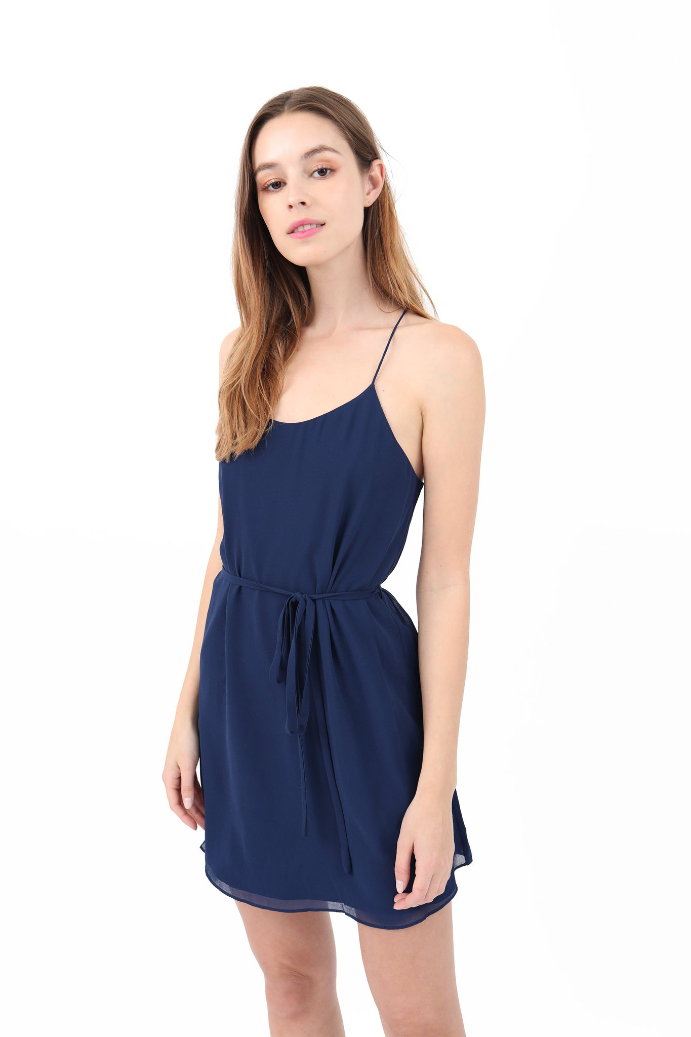 Waist Tie Mini Dress
