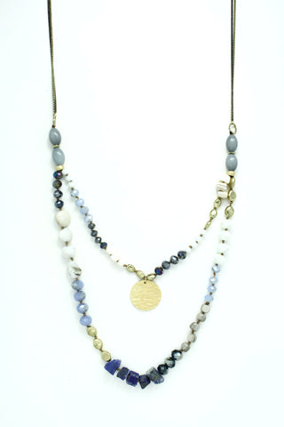 2 LAYER SEMI PRECIOUS BEADS AND STONES