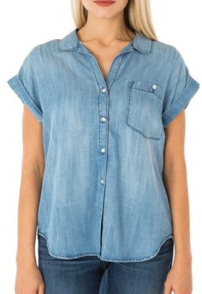 High/Low Denim Shirt