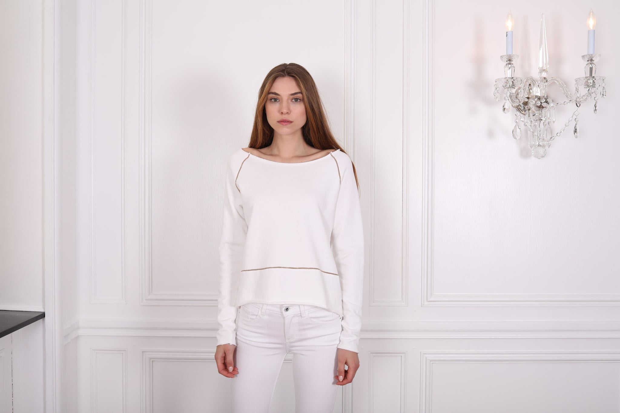 Cara Metallic Trim Sweater