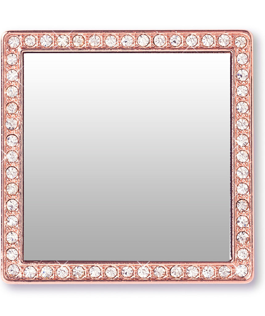 Phone Mirror in Rose Gold with Crystals