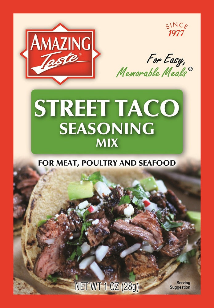 Street Taco Seasoning Mix Amazing Taste Foods Inc