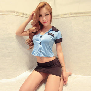 Police Women Uniforms Policewomen Lingerie Costumes Set Sexy Women's Lingerie Uniform Temptation