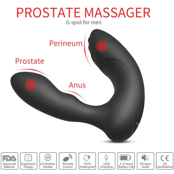 Butt Plug Prostate Massager Vibrator For Men Vibrating Erotic Sex Toys Male