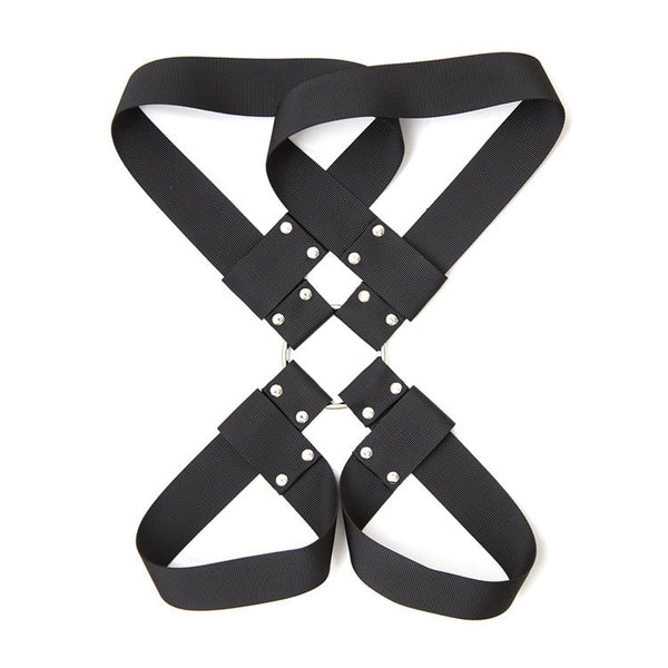 Sex Slave Bondage Erotic Hand Arm To Thigh Restraints System, BDSM Handcuffs Ankle Cuffs Neck Collar Set