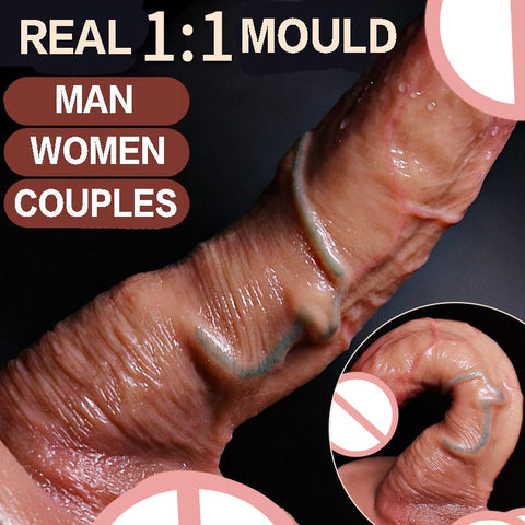 Realistic Dildo Skin Touch Silicon Dildo for Women Super Sucker Sex Toy
