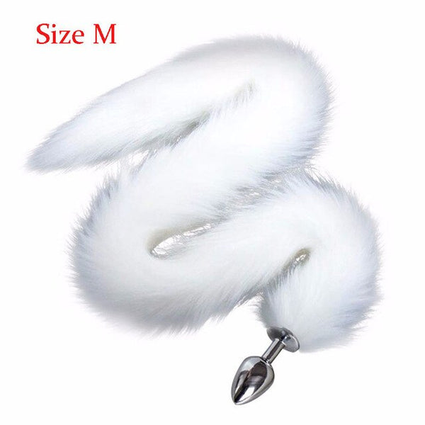 uper Long Fox Tail Anal Plug,Silicone /Metal Anus Bead Butt Plug Stimulation Sex Toys Cosplay Costume Sexy Crawls Paws Sex Toys