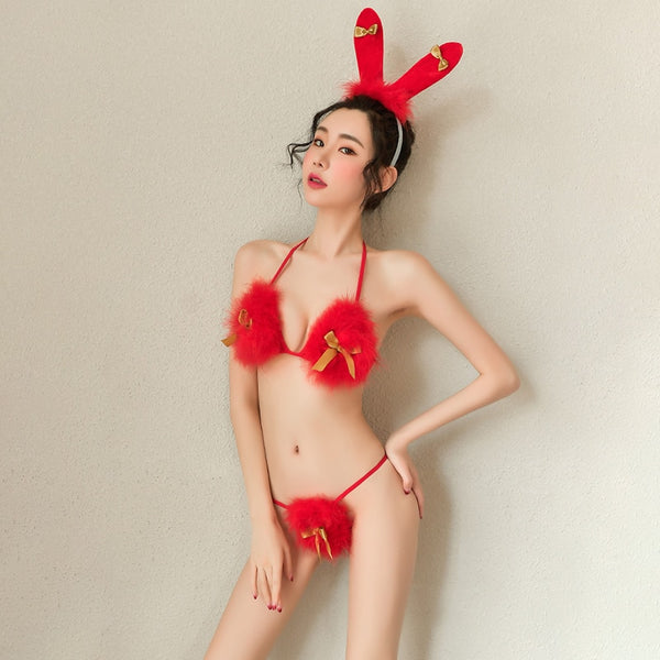 Sexy Bunny Girl Uniform Erotic Lingerie Christmas Underwear Women Porno Bra Thogn Cosplay Babydoll Costumes Sex Adult