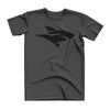 Isurus Logo Heather T-Shirt - Black on Gray