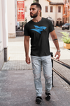 Isurus Logo T-Shirt - Blue on Black