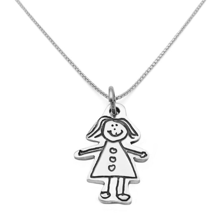Drawing Necklace - Fine Silver Link-Smallprint (Franchising) LLC