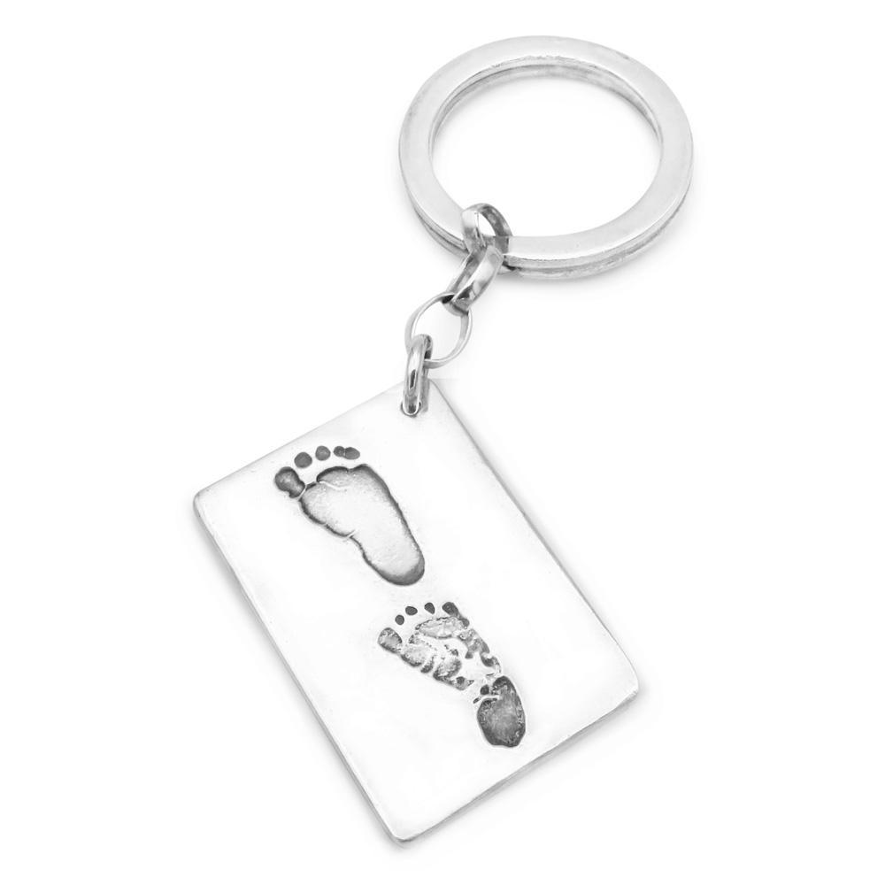 Hand & Footprint Keyring - Double Print-Smallprint (Franchising) LLC