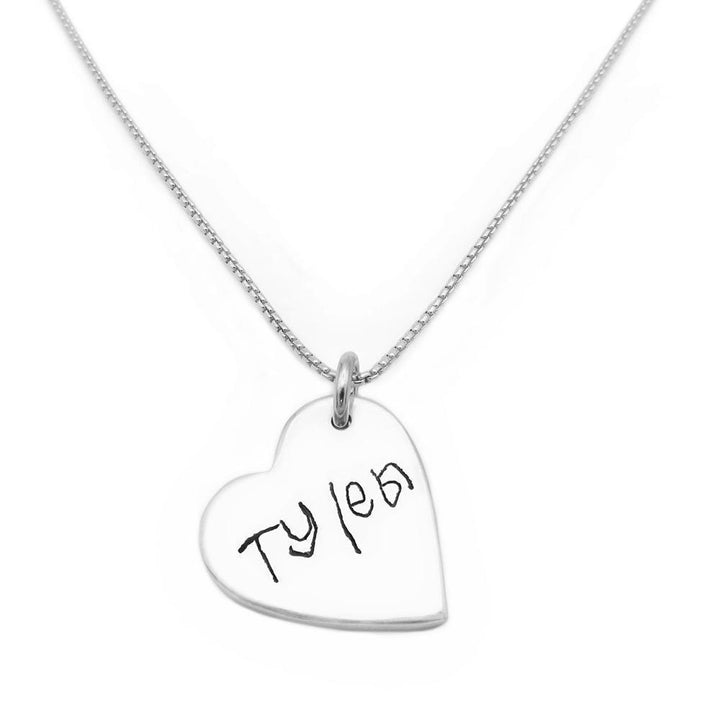 Handwriting Necklace - Fine Silver Link-Smallprint (Franchising) LLC