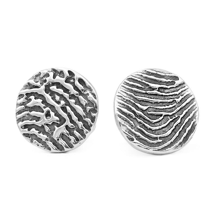 """Tender Touch"" Fingerprint Earrings - Mini Stud-Smallprint (Franchising) LLC"