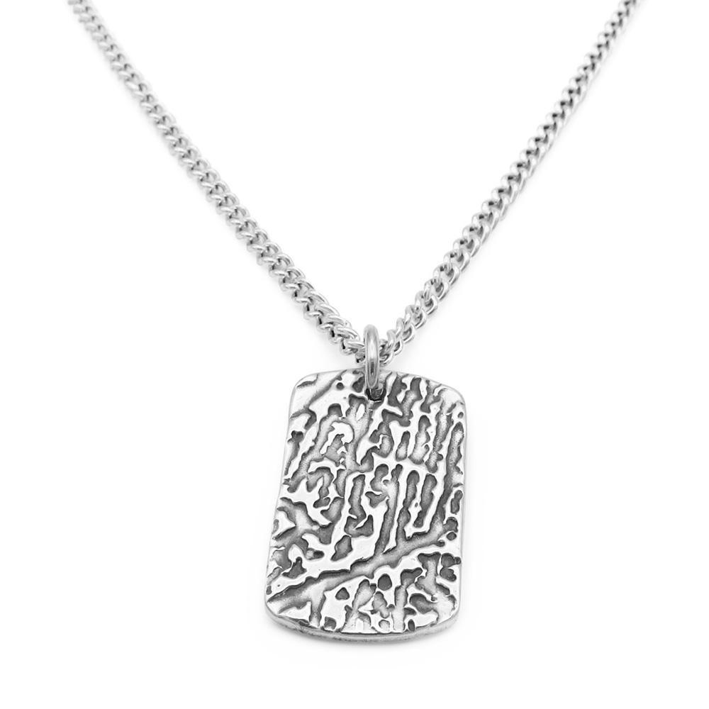 """Tender Touch"" Fingerprint Necklace - Curb-Smallprint (Franchising) LLC"