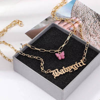 Stunning high quality double butterfly choker with retro catch phrases. Available in gift boxes  Add a free personalised message by typing your message in the 'Add notes' section when checking out.  Retro, choker, necklace, jewellery, accessories
