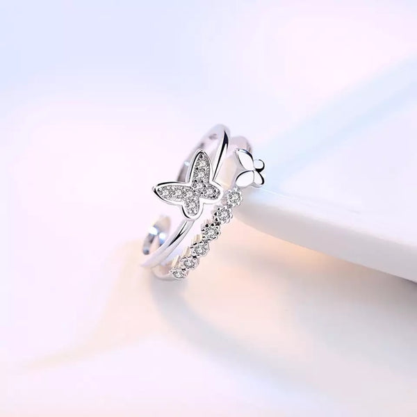 925 sterling silver butterfly ring - Butterfly Centric