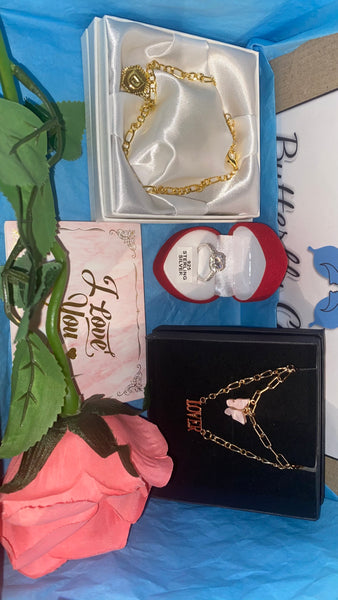 3pc ring, necklace and anklet gift box - Butterfly Centric
