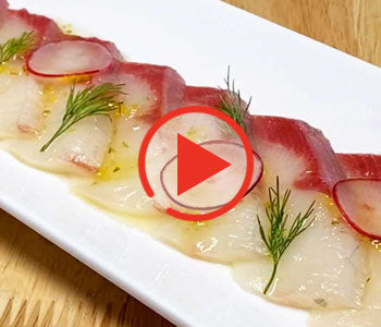 Hamachi Crudo with Yuzu Kosho Dressing