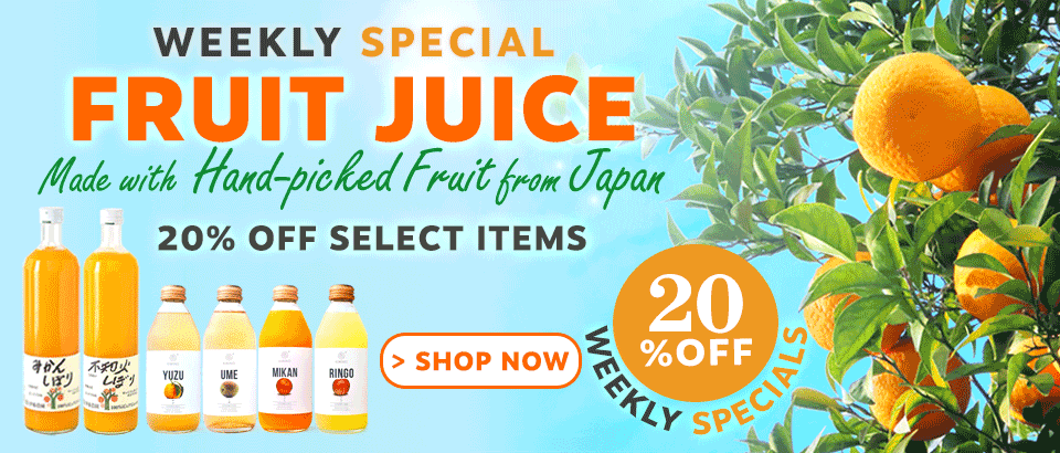 20% Off Premium Fruit Beverages from Japan