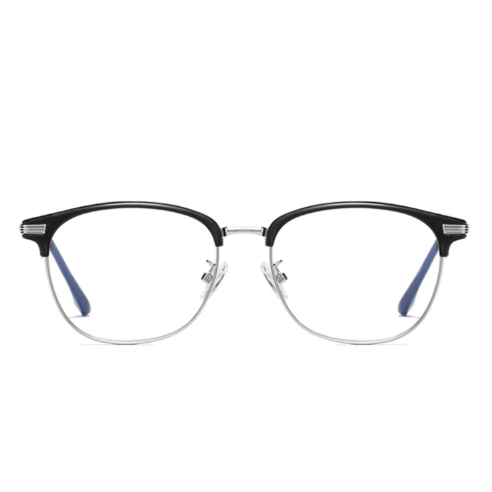 Retro Silver - Blue Light Blocking Glasses - bamblueglasses