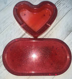Valentine's ashtray and rolling tray set