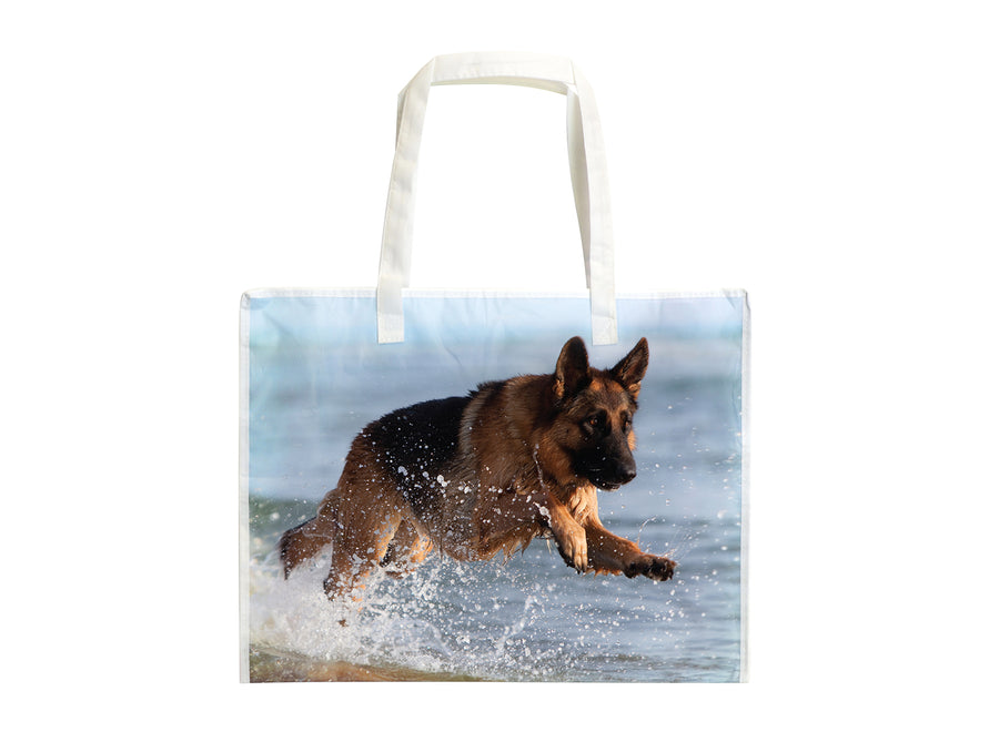 Laminated RPET Shopping Bag 16x6x12