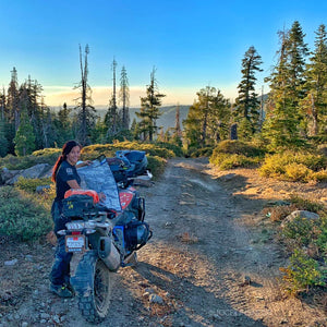 Jocelin on the Rubicon Trail.