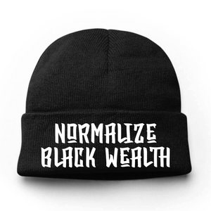 Normalize Black Wealth Beanie Hat