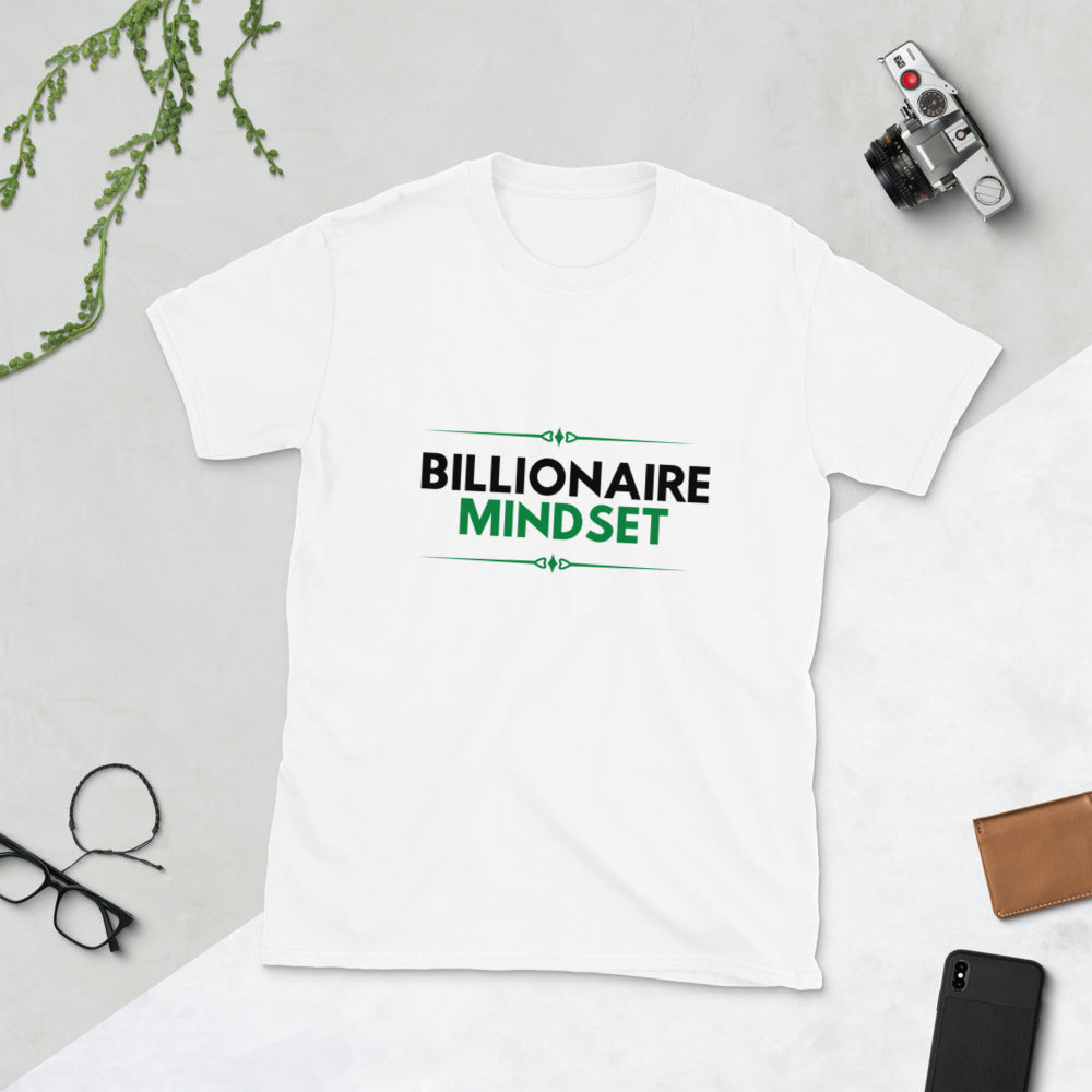 Billionaire Mindset White T-shirt
