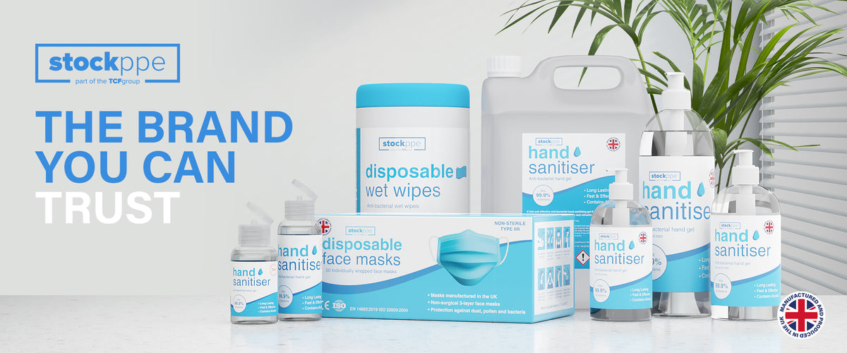 Product range of stock ppe hand sanitiser eco refill container 500ml pump bottle flip top hand personal hand sanitiser disposable face masks alcohol wipes and antibacterial hand gel