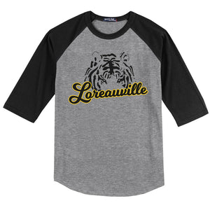 The Loreauville Tiger Raglan T-Shirt | T200