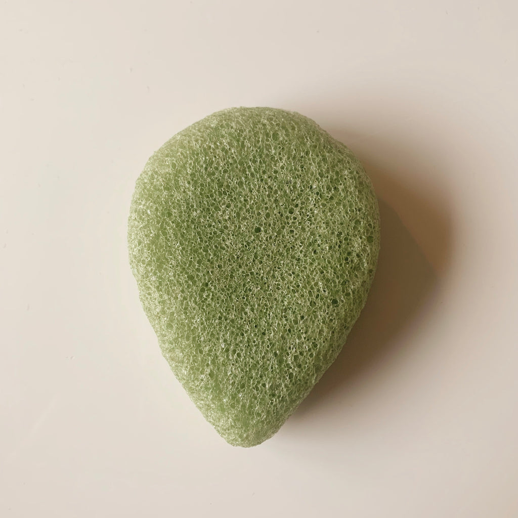No String - Green Clay face konjac sponge