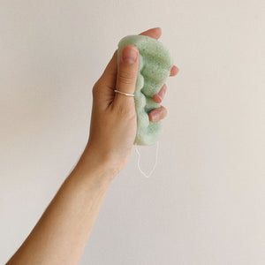 Green Clay body konjac sponge