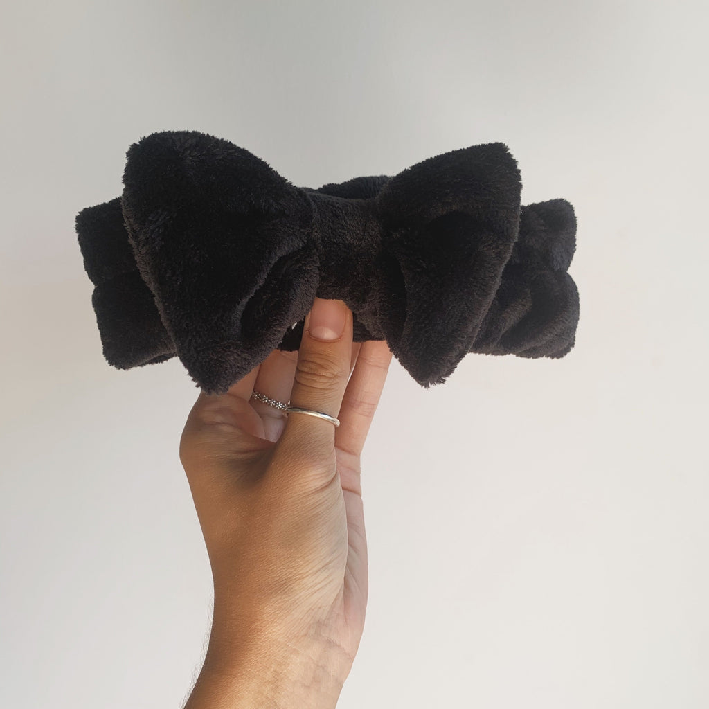 Black Fleece Bow Heandband
