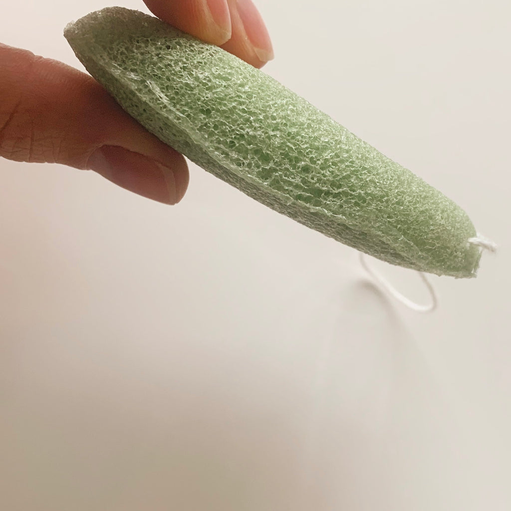With Defect - Green Clay face konjac sponge
