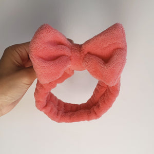 Coral Fleece Bow Headband