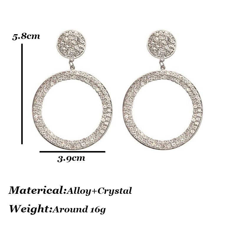 Geometric Round Star Earrings