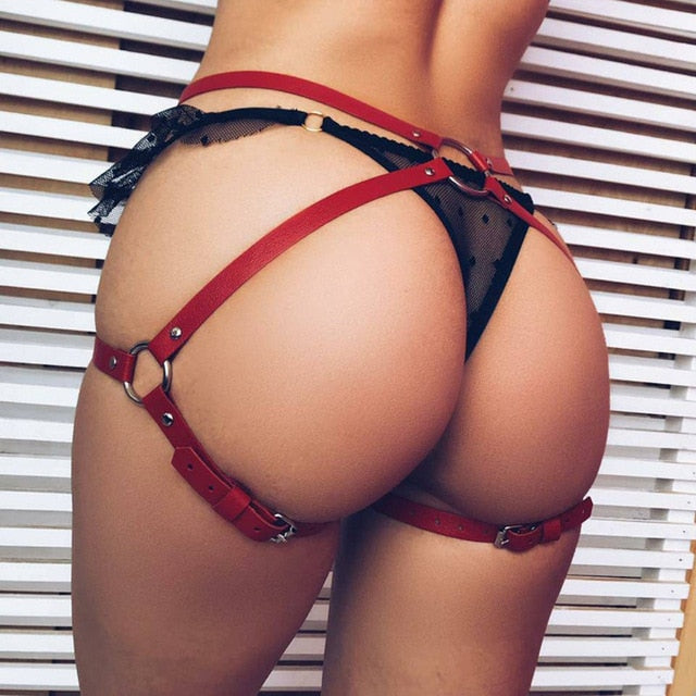 Women Buttocks Garter Lingerie Belt