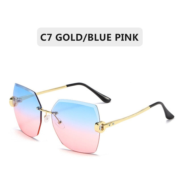 Fashion Black Retro Sun Glasses