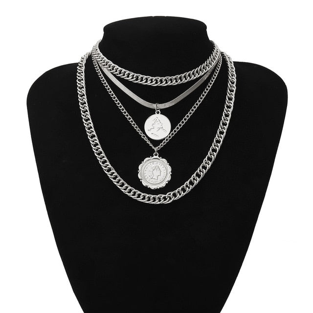 Multilayer Chunky Choker Necklaces