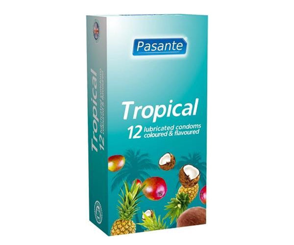 Pasante Tropical flavours smaak condooms - 12 smaak condooms